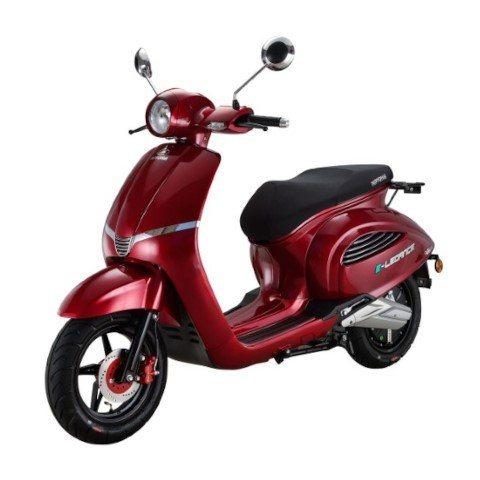 E-Legance elektrische scooter Rood metallic linkerkant